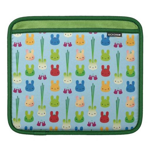 Kawaii Bunny Fruit & Vegetables iPad Sleeve
