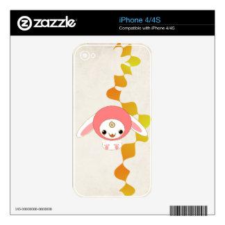 kawaii bunny pink iPhone 4S decal