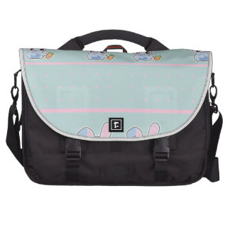 Kawaii Bunny pink mint accessories personalized Laptop Bag