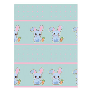 Kawaii Bunny pink mint accessories personalized Postcard