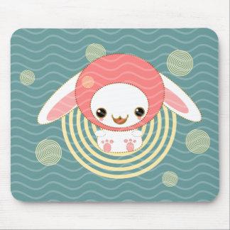 kawaii bunny pink mousepad