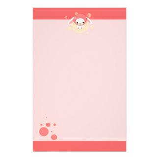 kawaii bunny pink stationery