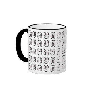 Kawaii Bunny Print Ringer Mug