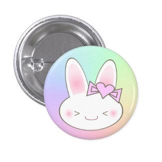 Kawaii Bunny Rabbit & Bow 1 Inch Round Button