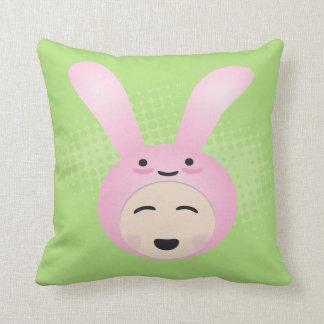 Kawaii Bunny Rabbit Throw Pillow