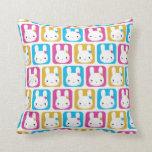 Kawaii Bunny Squares Pillows