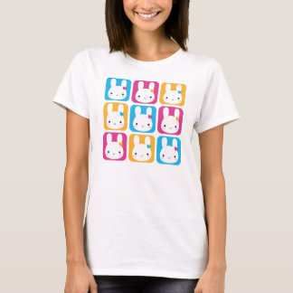 Kawaii Bunny Squares T-Shirt