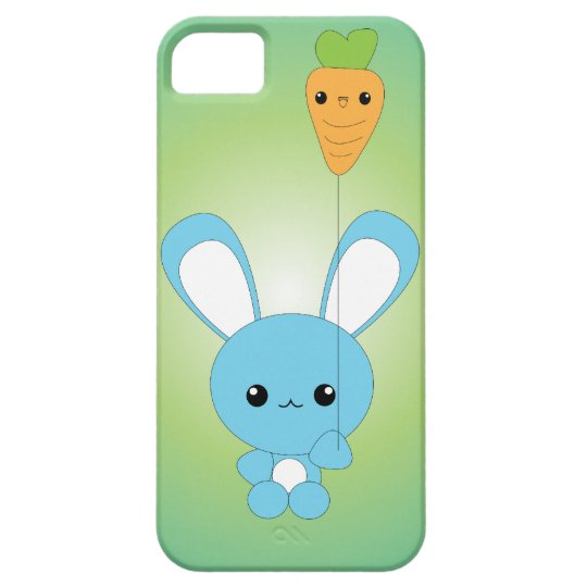 Kawaii Bunny with Carrot Balloon iPhone case