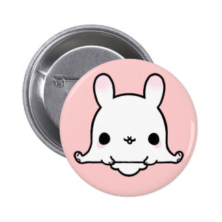 Kawaii Bunny (You change the Background!) 2 Inch Round Button