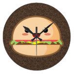 Kawaii Burger Clocks