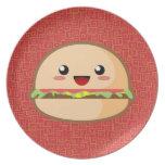 Kawaii Burger Party Plates