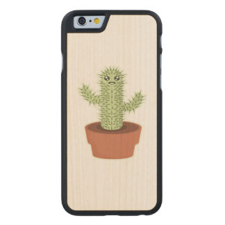 Kawaii Cactus Carved® Maple iPhone 6 Slim Case