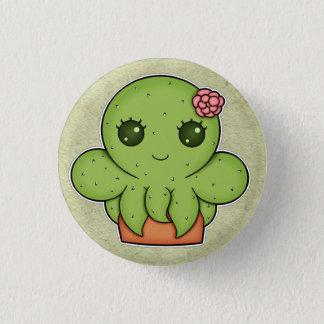 Kawaii Cactus Octopus Pinback Button