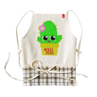 Kawaii Cactus Zazzle HEART Apron