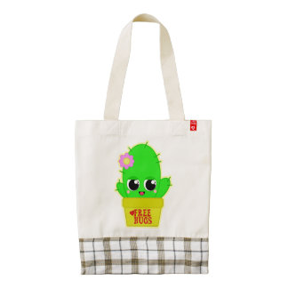 Kawaii Cactus Zazzle HEART Tote Bag