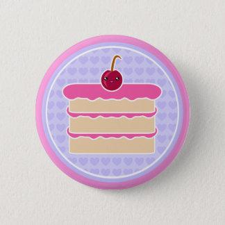Kawaii Cake Happy Stacks Button Badge