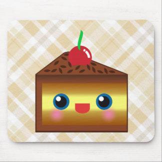 Kawaii Cake Pie Chocolate Vanilla Cream Cherry Yum Mouse Pad