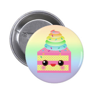 Kawaii Cake Pink Rainbow Sprinkles Fun Dessert Pin