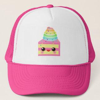 Kawaii Cake Pink Rainbow Sprinkles Fun Dessert Trucker Hat