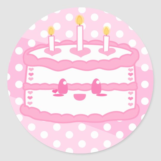 Kawaii Cake Sticker