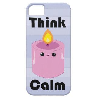 Kawaii Candle Think Calm iPhone case