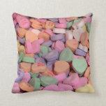 Kawaii Candy Valentine Conversation Hearts Pillow
