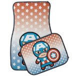 Kawaii Captain America With Shield Car Floor Mat