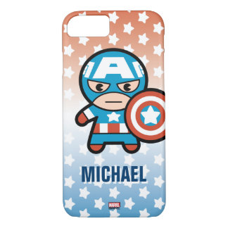 Kawaii Captain America With Shield iPhone 8/7 Case