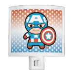 Kawaii Captain America With Shield Night Light