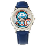 Kawaii Captain America With Shield Wrist Watch