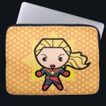 "Kawaii Captain Marvel Photon Engery Computer Sleeve<br><div class=""desc"">This cute cartoon of Captain Marvel shows her powering her fists with photon energy!</div>"