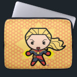 "Kawaii Captain Marvel Photon Engery Computer Sleeve<br><div class=""desc"">This cute cartoon of Captain Marvel shows her powering her fists with photon energy!</div>"