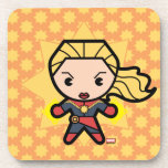 Kawaii Captain Marvel Photon Engery Drink Coaster