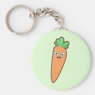 Kawaii Carrot Basic Round Button Keychain