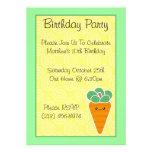 Kawaii Carrot Birthday Party Invitations
