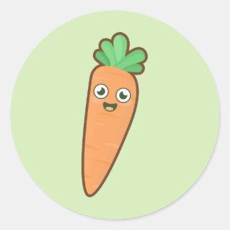 Kawaii Carrot Classic Round Sticker