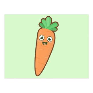 Kawaii Carrot Postcard