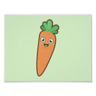 Kawaii Carrot Poster
