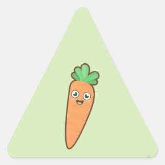 Kawaii Carrot Triangle Sticker