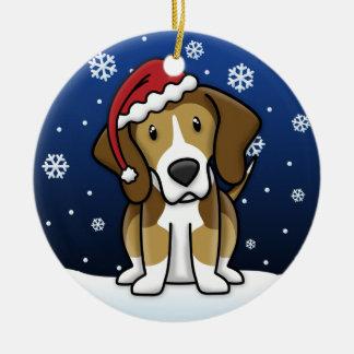 Kawaii Cartoon American Foxhound Christmas Ornament