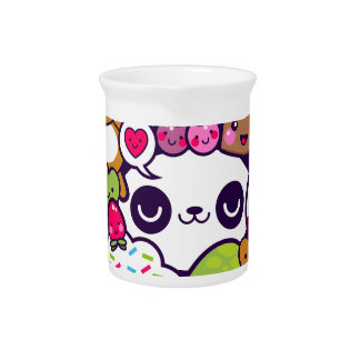 Kawaii Cartoon Animal Food Party Drink Pitcher