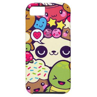 Kawaii Cartoon Animal Food Party iPhone SE/5/5s Case