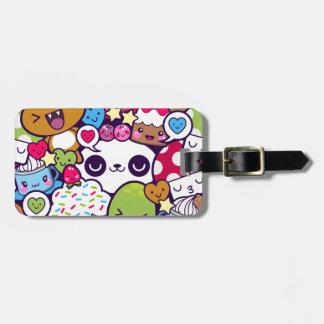 Kawaii Cartoon Animal Food Party Luggage Tag
