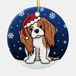 Kawaii Cartoon Blnhm Cavalier King Charles Spaniel Christmas Ornaments