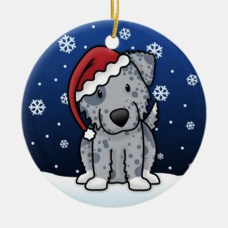 Kawaii Cartoon Blue Australian Shepherd Christmas Ornament