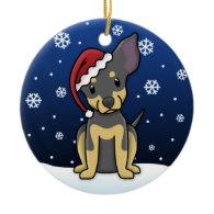 Kawaii Cartoon BT Chihuahua Christmas Ornament
