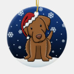 Kawaii Cartoon Chesapeake Bay Retriever Christmas Christmas Tree Ornaments