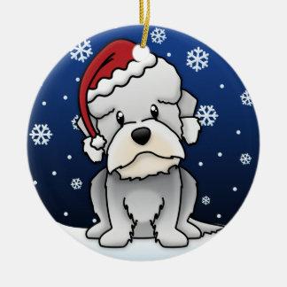 Kawaii Cartoon Dandie DInmont Terrier Christmas Ornament