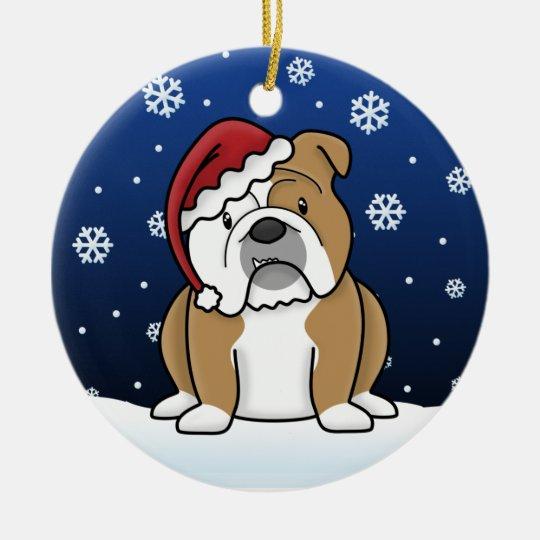 Kawaii Cartoon English Bulldog Christmas Ornament - Kawaii Cartoon English Bulldog Christmas Ornament Zazzle.com