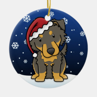 Kawaii Cartoon English Shepherd Christmas Ornament